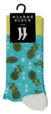 506270 WS socks pineapplesWithCard